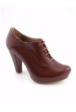 Fantasy Kahverengi Bootie Platform Kadın Ayakkabı