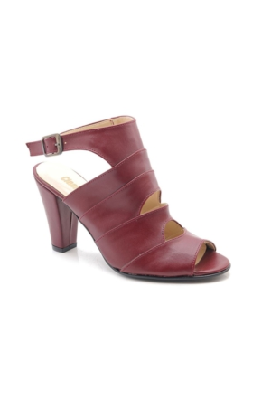 Fantasy Bordo Orta Topuk Kadın Ayakkabı