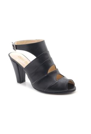 Fantasy Siyah Orta Topuk Kadın Ayakkabı