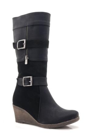 Lady Siyah Topuklu Kadın Çizme