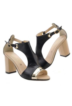 Lonar W-03249S Siyah Topuklu Kadın Ayakkabı