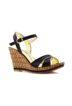 My Unobell Siyah Dolgu Topuk Kadın Ayakkabı