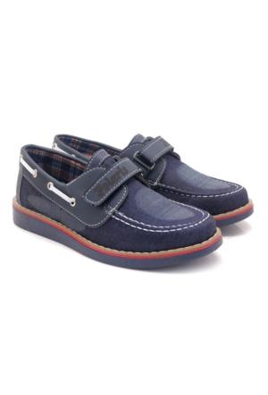 Polaris Keten Koyu Lacivert Çocuk Ayakkabı
