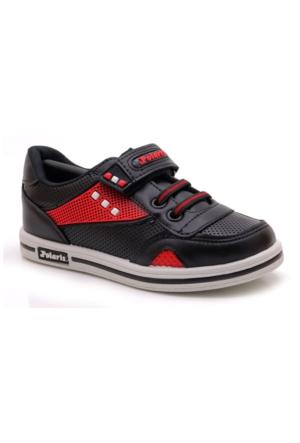 Polaris Siyah Kırmızı Spor Ayakkabı