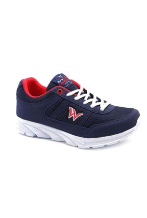 Prowolf Lacivert Kırmızı Kadın Spor Ayakkabı