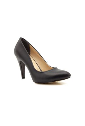 Stilo Stiletto Siyah Topuklu Kadın Ayakkabı