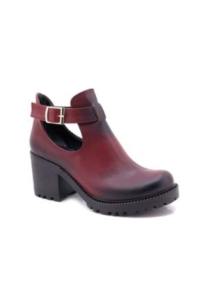 My Unobell Bordo Bootie Kadın Ayakkabı