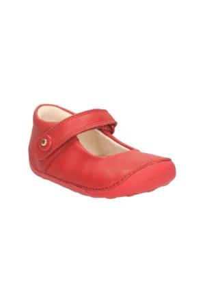 Clarks Little Boo Kız Çocuk Babet Kırmızı