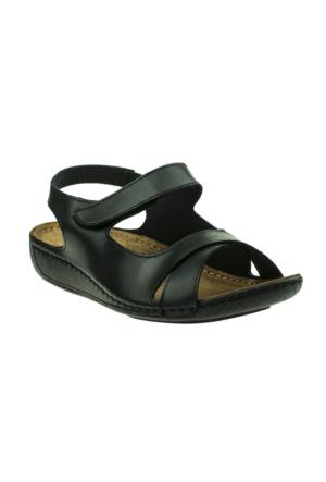 Muya 22273 Çapraz Bant Siyah Bayan Sandalet