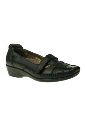 Forelli 1713 H Kalip Saracli Siyah Bayan Ayakkabı