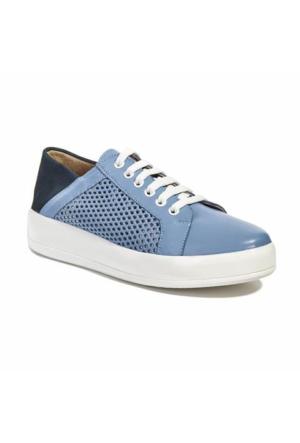 Desa Collection Deri Kadın Spor Ayakkabı Mavi - Lacivert