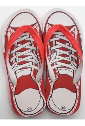 Hobi Store Converse Model Kırmızı Parmak Arası Terlik