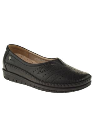 Forelli 23424 Saracli Comfort Siyah Bayan Ayakkabı