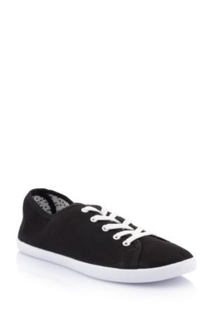 DeFacto Kadın Kanvas Spor Ayakkabı Siyah
