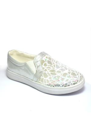 Vans B330-G Lastikli Gümüş Kız Çocuk Ayakkabı