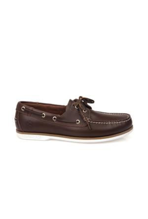 Lumberjack Erkek Ayakkabı 7122L Naviga Kahverengi - Beyaz