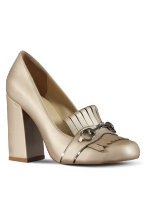 Marjin Celas Topuklu Ayakkabı Altın