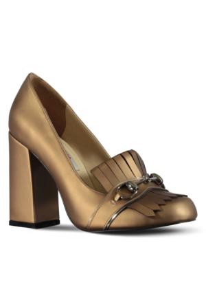 Marjin Celas Topuklu Ayakkabı Bronz