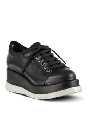 Marjin İnves Dolgu Ayakkabı Siyah