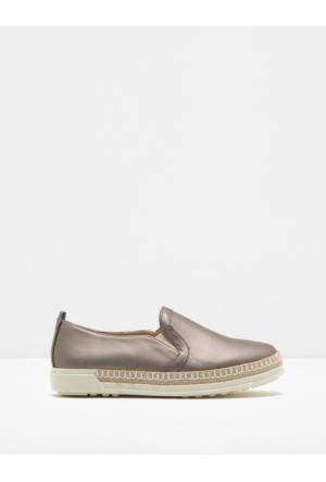 Koton Kadın Deri Görünümlü Ayakkabı Gri