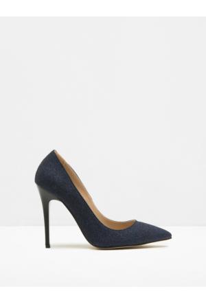 Koton Kadın Parlak Detaylı Ayakkabı Mavi