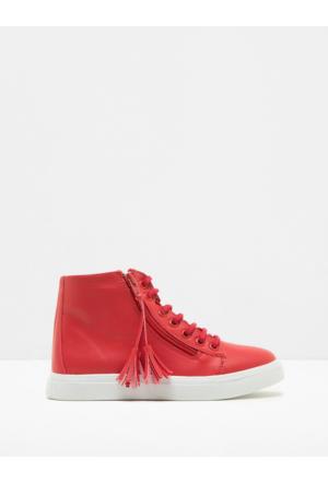 Koton Kız Çocuk Püskül Detaylı Ayakkabı Kırmızı