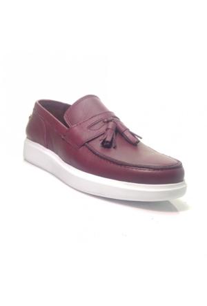 Darkwood 70019 Günlük Deri Erkek Ayakkabı Bordo