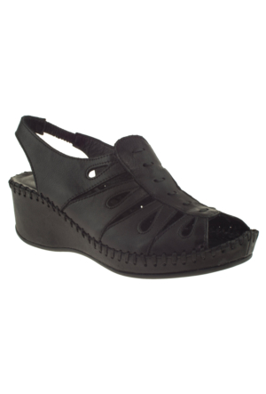 Venus 079-1393 Siyah Kadın Sandalet