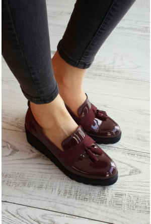 Shoes Time 16K 3103 Kadın Rugan Ayakkabı