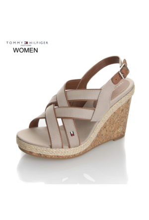 Tommy Hilfiger Kadın Sandalet Kum FW0FW00518