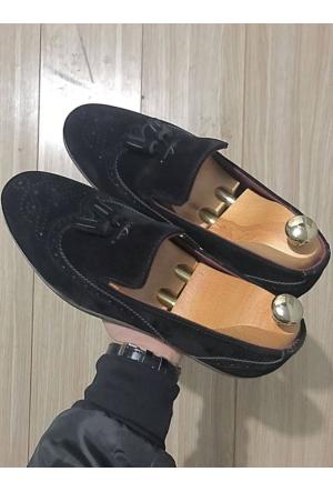 Ginnex Süet Tarz Ayakkabı - Siyah