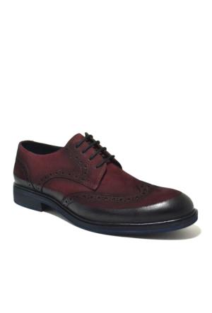 Dropland Hakiki Deri Günlük Bordo Nubuk Erkek Ayakkabı