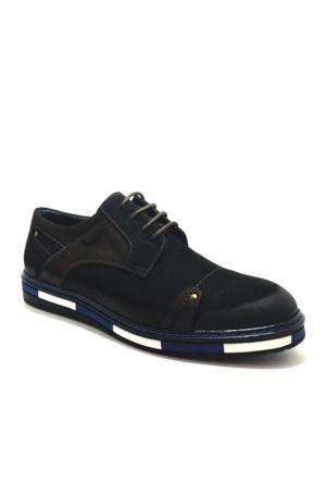 Dropland® Hakiki Deri Günlük Siyah Nubuk Erkek Ayakkabı
