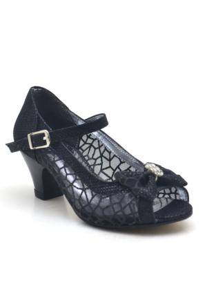 Sarıkaya Abiye Siyah Kız Çocuk Topuklu Ayakkabı