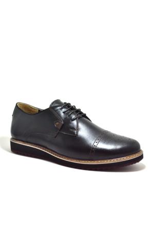 Tardelli® Hakiki Deri Büyük Numara Günlük Siyah Erkek Ayakkabı