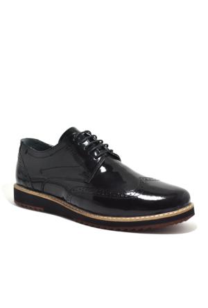 Tardelli® Hakiki Deri Büyük Numara Siyah Rugan Erkek Ayakkabı