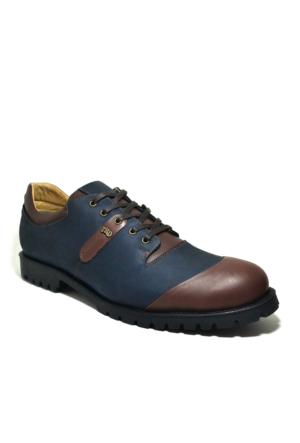 Tardelli® Hakiki Deri Nubuk Büyük Numara Lacivert Erkek Ayakkabısı