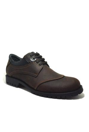 Tardelli® Hakiki Deri Nubuk Kahverengi Büyük Numara Erkek Ayakkabısı