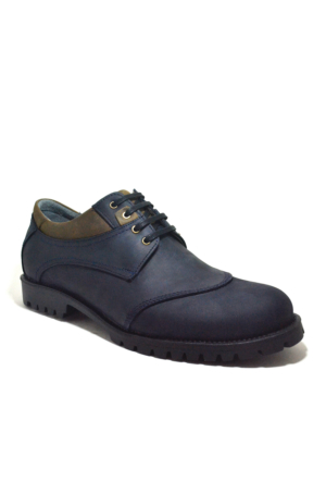 Tardelli® Hakiki Deri Nubuk Lacivert Büyük Numara Erkek Ayakkabı
