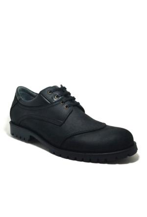 Tardelli® Hakiki Deri Nubuk Siyah Büyük Numara Erkek Ayakkabısı