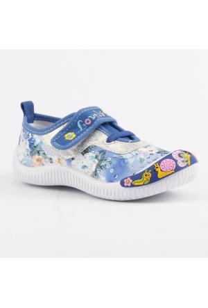 Akinalbella 1110-152 Keten Cırtlı Kız Çocuk Spor Ayakkabı