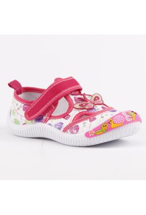 Akinalbella 1110-143 Keten Cırtlı Kız Çocuk Spor Ayakkabı