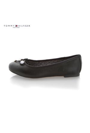 Tommy Hilfiger Fw56821758 990 Thf Shoes A1285My 54A Ballerinas Black Ayakkabı
