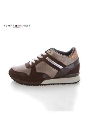 Tommy Hilfiger Fw56821999 212 Thf Sneakers S1285Ady 13C2 Low Cut Coffeebean Bronze Ayakkabı