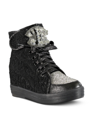 Marjin Mara Dolgu Topuk Ayakkabı Siyah