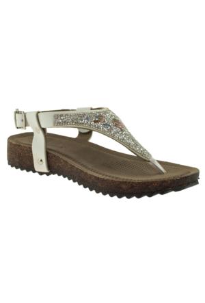 Muya 90199 Full Tasli P.a Beyaz Kadın Sandalet