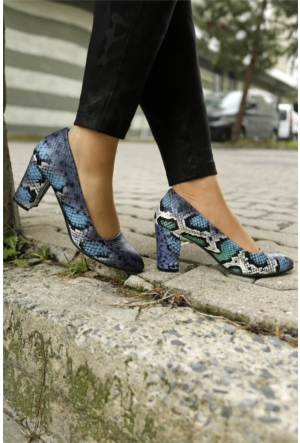 İnce Topuk Kalın Topuklu Ayakkabı 7KISA0157514