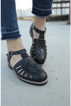 İnce Topuk Bilekten Bağlamalı Oxford Ayakkabı 7YAZA0081004