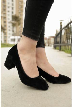 İnce Topuk Kısa Topuklu Ayakkabı 7YAZA0099416