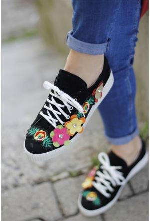 İnce Topuk Çiçekli Spor Ayakkabı 7YAZA0109416